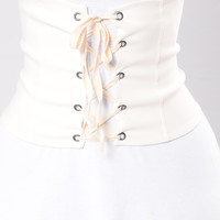Paris Lover Belt - White