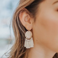 Unforgettable Fringe Earrings in Cream