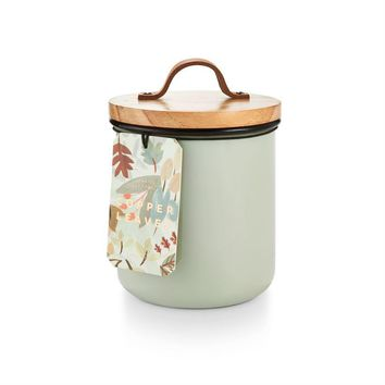 Copper Leaves Enamel Canister Candle