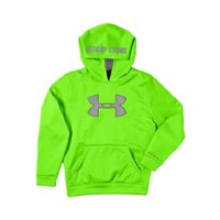 Under Armour Boys' Armour® Fleece Storm Big Logo Hoodie Youth Large HYPER GREEN