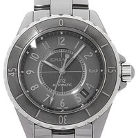 Free Shipping Pre-owned CHANEL J12 Chromatic 38mm H2979 Gray Automatic Roll