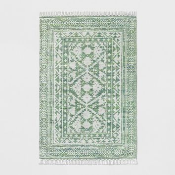 Green Patterned Woven Area Rug - Threshold™