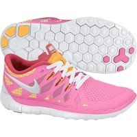Nike Girls' Grade School Free 5.0 Running Shoe - Pink/Orange/White | DICK'S Sporting Goods