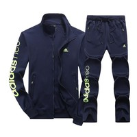 Adidas Fashion Casual Top Sweater Pants Trousers Set Two-Piece-8