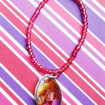 Princess Peach Portrait Bracelet