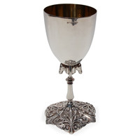 Silver-Plated Goblet w/ Horse Base, Wine Glasses