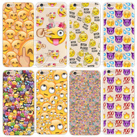 Shell For Apple iPhone 5 5S SE 5C 6 6S 7 Plus 6SPlus Back Case Cover Funny Monkey Emoji New Design Hard Plastic Cell Phone Cases