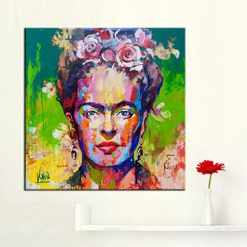 QKART Frida Kahlo Wall Art Oil Painting Wall Pictures for Living Room framless Wall Art Posters and Prints Canvas Painting