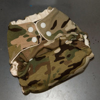 One-Size Hemp Fitted Cloth Diaper - Camo