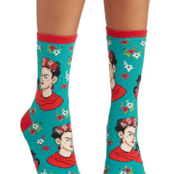 ModCloth Quirky Frida Express Yourself Socks