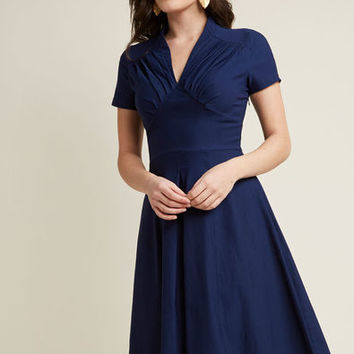 Lend a Glam Short Sleeve Midi Dress