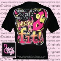 Throw A Fit (Short Sleeve) - $16.99 : Girlie Girl™ Originals - Great T-Shirts for Girlie Girls!