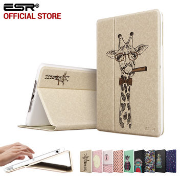 Illustrators Cute Cartoon Folio Stand Smart Cover Auto Wake Up/Sleep Case for iPad Air (5 Gen 2013)