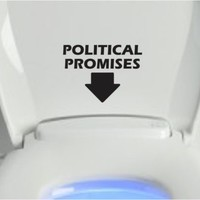 Political Promises Funny Toilet Seat Sticker Vinyl Decal Sh*t President Obama