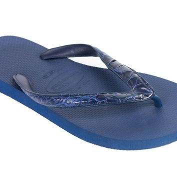 Valentino Garavani Mens Leather Strap Thong Sandals