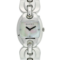 Gucci Watches Women's Stainless Steel & Mother Of Pearl Watch - Silver