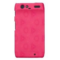 Hot Pink Motorola RAZR Phone Case Motorola Droid RAZR Case from Zazzle.com