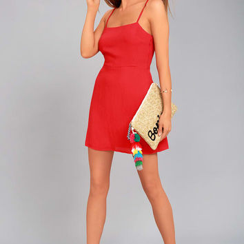 Sweetest Day Red Mini Dress