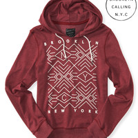 Brooklyn Calling Geo Graphic Pullover Hoodie