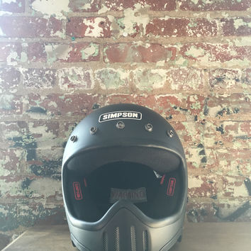 Simpson Model 50 Helmet, Matte Black