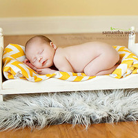 Small Newborn Photography Prop Baby Doll Posing Bed with Mattress- Whimsical - DIY Ready to Stain or distress Photo Props