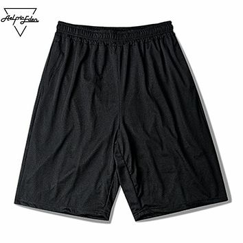 Double Breathable Mesh Casual Men's Beach Shorts Simple Loose Joggers Gyms Shorts Cozy Home Male Shorts