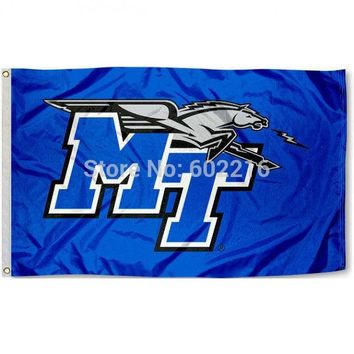MTSU Blue Raider College Large Outdoor Flag 3ft x 5ft Football Hockey Baseball USA Flag