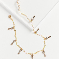 Frasier Sterling Lock It Up Charm Necklace | Urban Outfitters