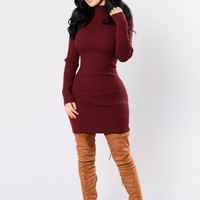 Go Get It Dress - Burgundy