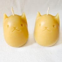 Beeswax Candles - Set of 2 Kitty Eggs