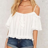 Marika Cold Shoulder Top