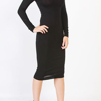 Shoulder Cutout Midi Knit Dress from Trendyish