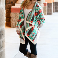 YOUR EVERYTHING AZTEC CARDI IN MINT