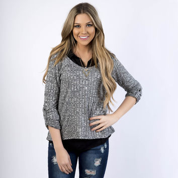 Something Cute Ribbed Sweater