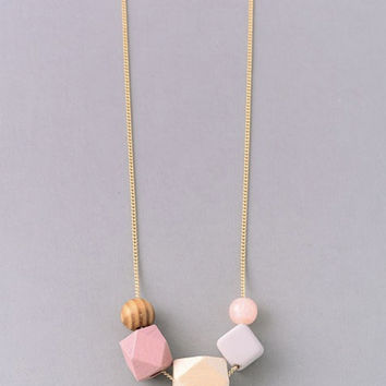 Block Bead Necklace N0580