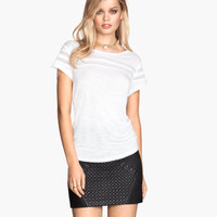 H&M Top with Mesh Trim $12.95