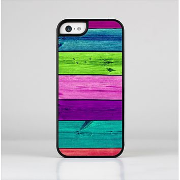 The Wide Neon Wood Planks Skin-Sert Case for the Apple iPhone 5c