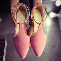 High Quality T-Strap Comfortable Flat Shoes