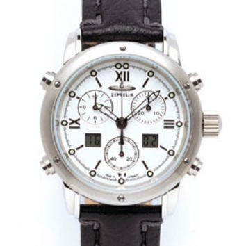 Graf Zeppelin Captain's Line Chronograph Alarm Watch 7570