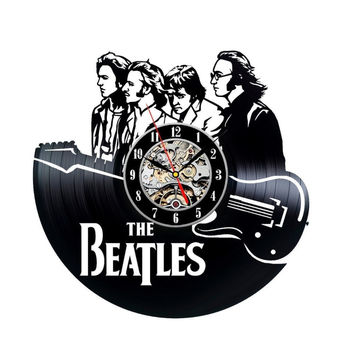 Free Shipping 1Piece Unique The Beatles Music Nursery Art New CD Vinyl Record Wall Clock Modern Timepiece Cool Decor Classic