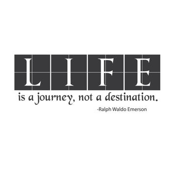 wall quotes wall decals - Life Is A Journey