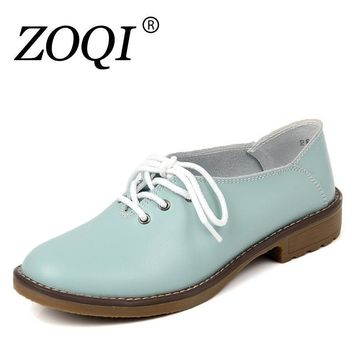 Genuine Leather Oxford Shoes Women Flats 2017 Fashion Women Shoes Casual Moccasins Loa