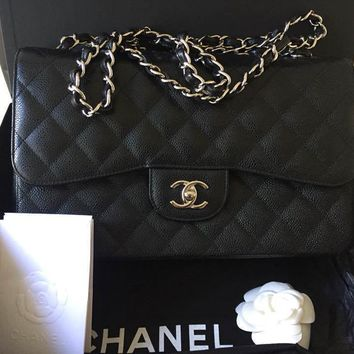 chanel Jumbo double flag bag