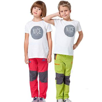 Kids Quick Dry Breathable Pants Outdoor Sports Waterproof Girls&Boys Brand Clothing Hiking Camping Trekking Child Trousers VC005