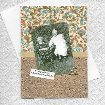 Beautiful Wedding - Anniversary Card for Lesbian Couples