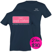 "*Simply Southern ""Preppy Harbor"" T-shirt"