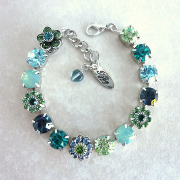Swarovski crystal bracelet, blue and green, better than sabika, GREAT PRICE
