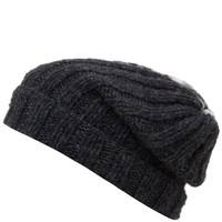 Grevi Black and White Half and Half Beanie Hat | Hats | Liberty.co.uk