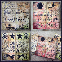 Unique Halloween Card - Never ending Card - Neverending Card - Set of 3 Greeting Cards - Samhain Cards - Hallow's Eve Card - Hand painted