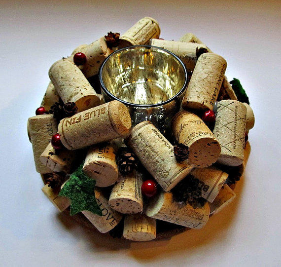 Cork Candles: Christmas From LizzieJoeDesigns